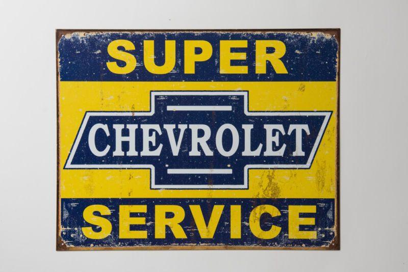 "Chevrolet Motor Detroit 12/"" Vintage Style Metal Signs Gas Pump Garage Man Cave"