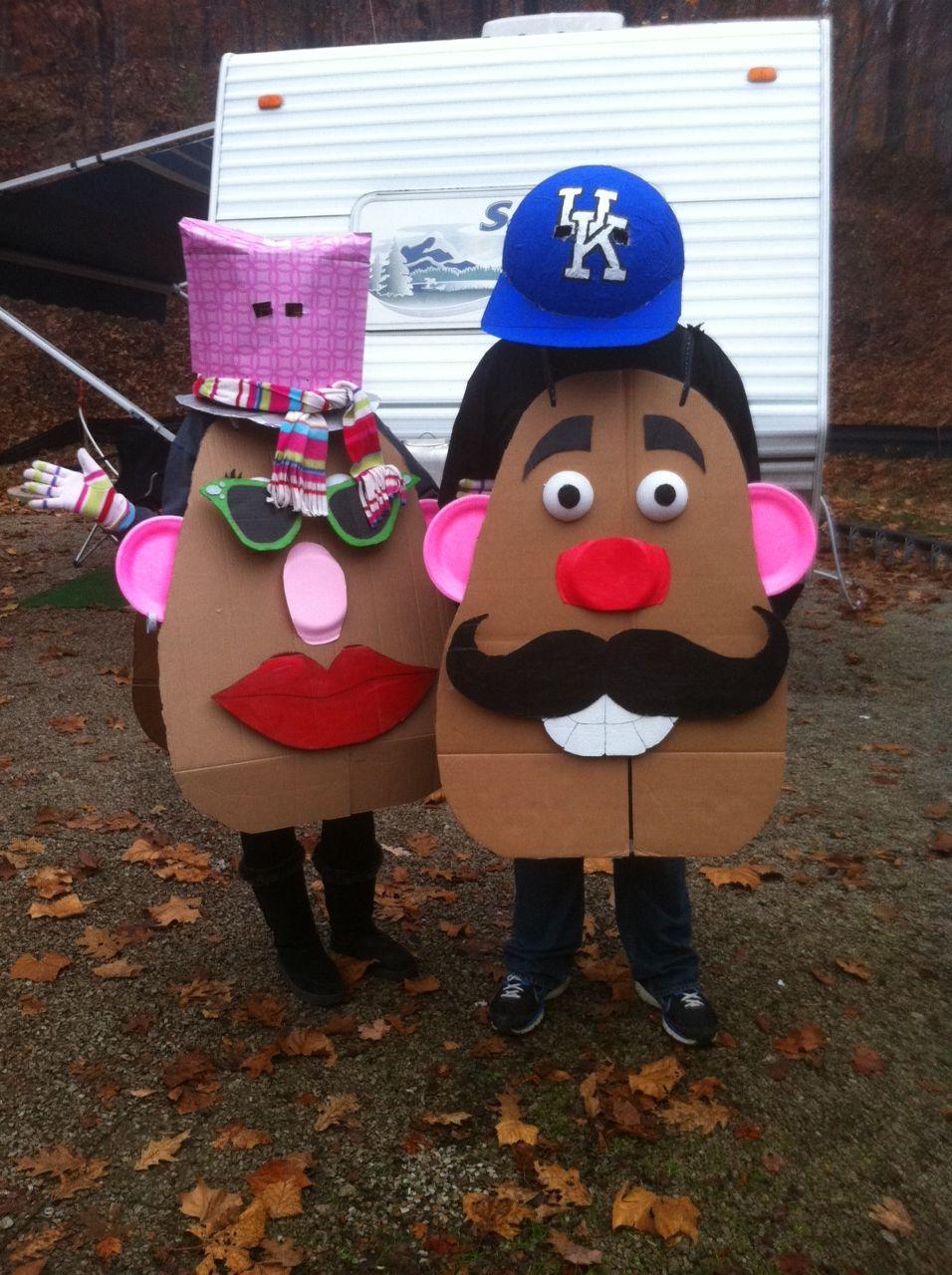 Diy Mr And Mrs Potatoe Head Costume Cute Crafts