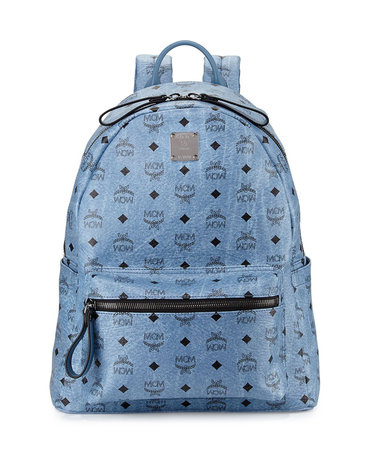 d2b6640cc20 Stark No Stud Medium Backpack, Denim (Blue) - MCM | *Luggage & Bags ...