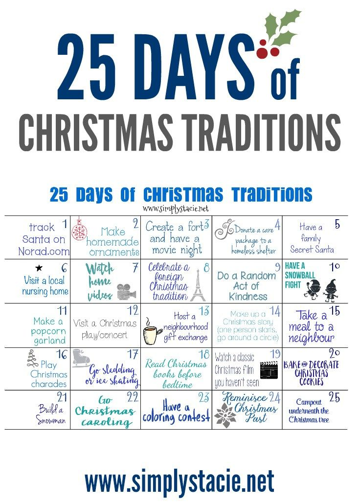 25 days of christmas traditions neverrunout