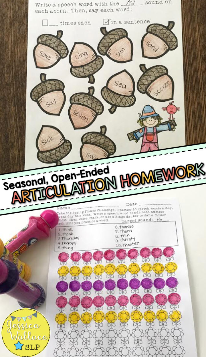 Open-Ended Articulation for the Whole Year - Homework Bundle ...