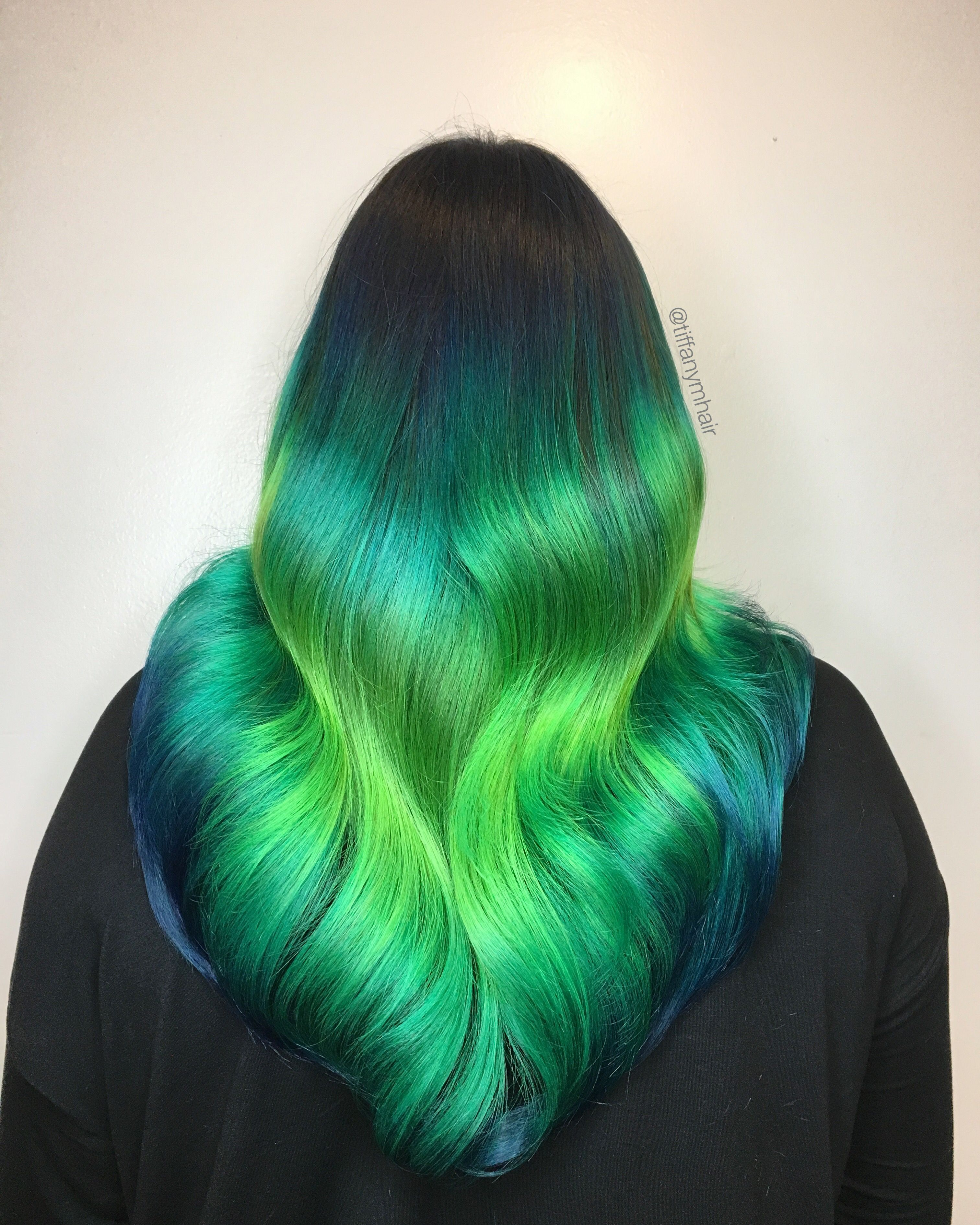Northern Lights Inspired Hair Color Shine Line Hair Experiment Bright Hair Colors Hair Color
