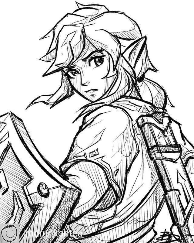 Thepierced3mogirl Zelda Drawing Zelda Art Legend Of Zelda Breath