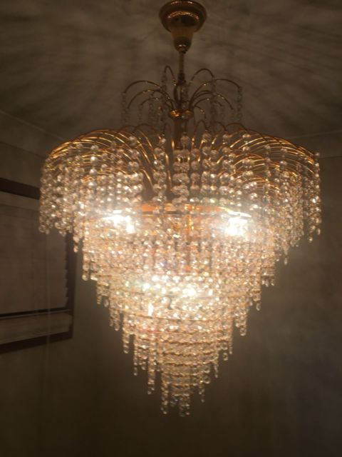 3 Chandeliers gold plated crystal | Ceiling Lights | Gumtree ...