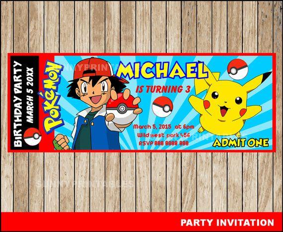 Pokemon Birthday Party Invitations Printable