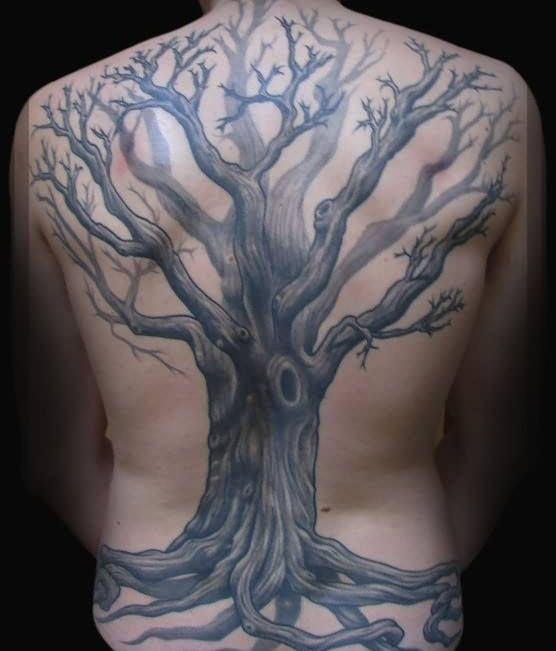 2a3c65bd9e556 40 Tree Back Tattoo Designs For Men - Wooden Ink Ideas ...