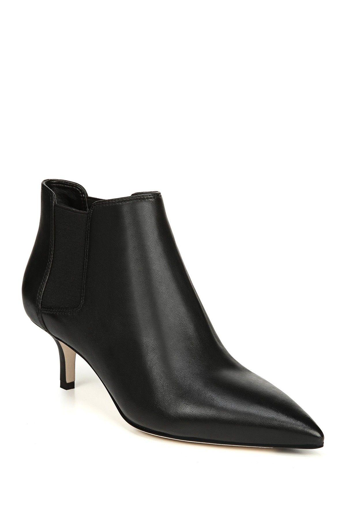 Via Spiga Maeve Leather Kitten Heel Ankle Boot Kitten