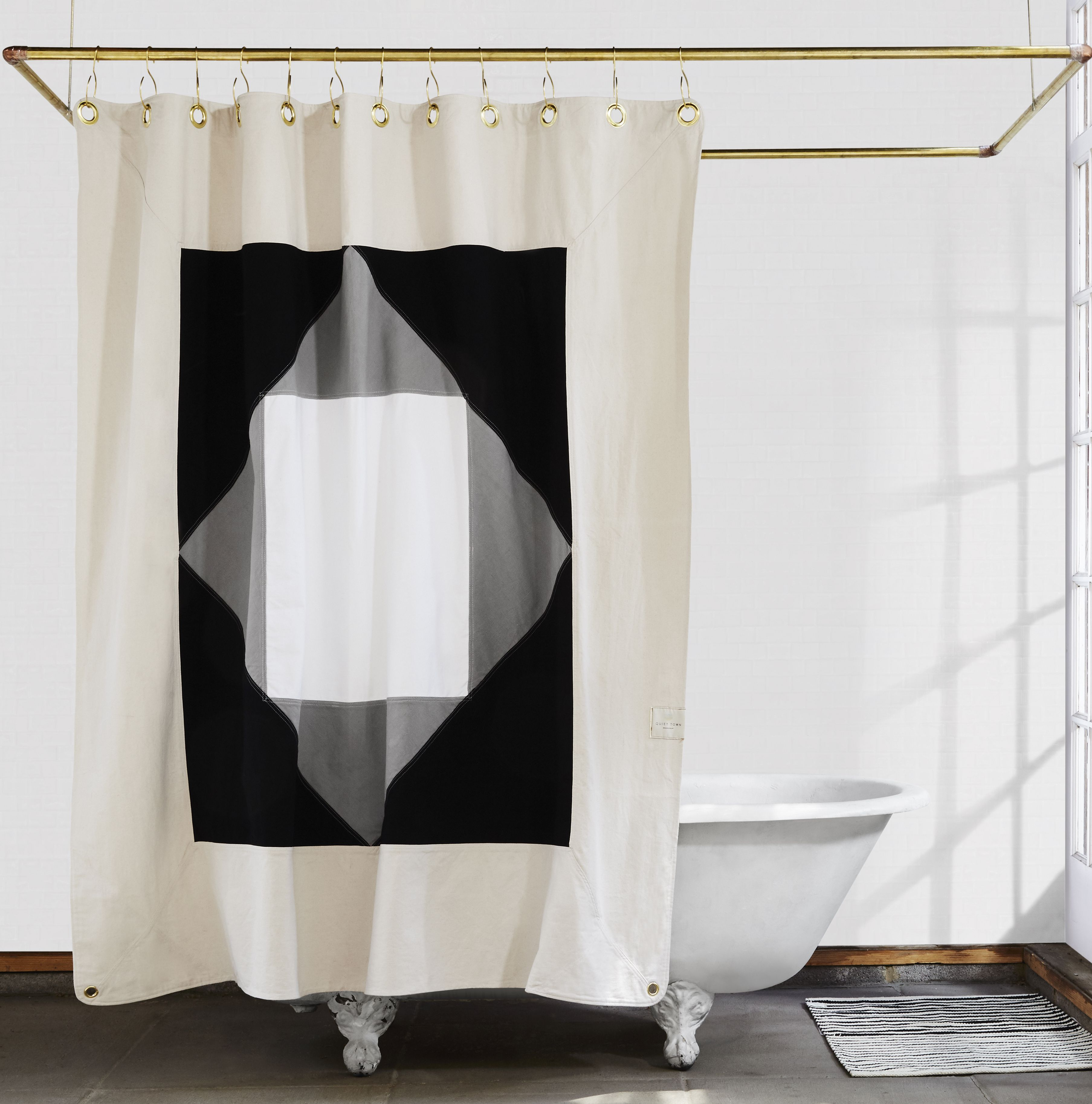 Statement Shower Curtains From Quiet Town Plus Glamorous Hooks Elegant Shower Curtains Designer Shower Curtains Curtains