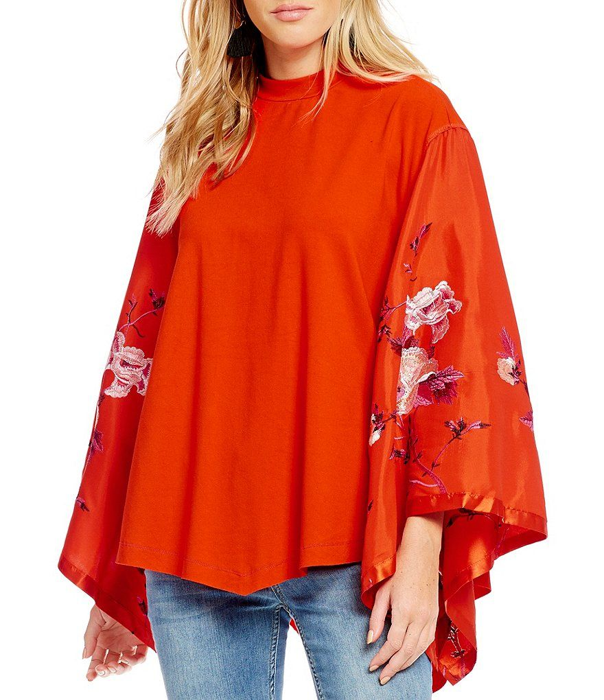 d3eff0b6815bc5 Free People Sydney´s Tuesday Embroidered Kimono Sleeve Blouse