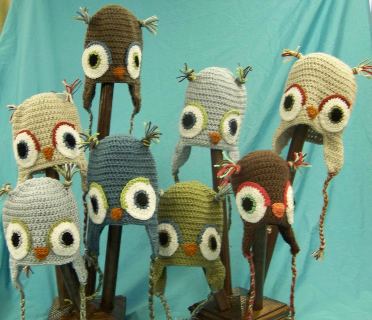 Owl Hat - Custom Order. $20.00, via Etsy.