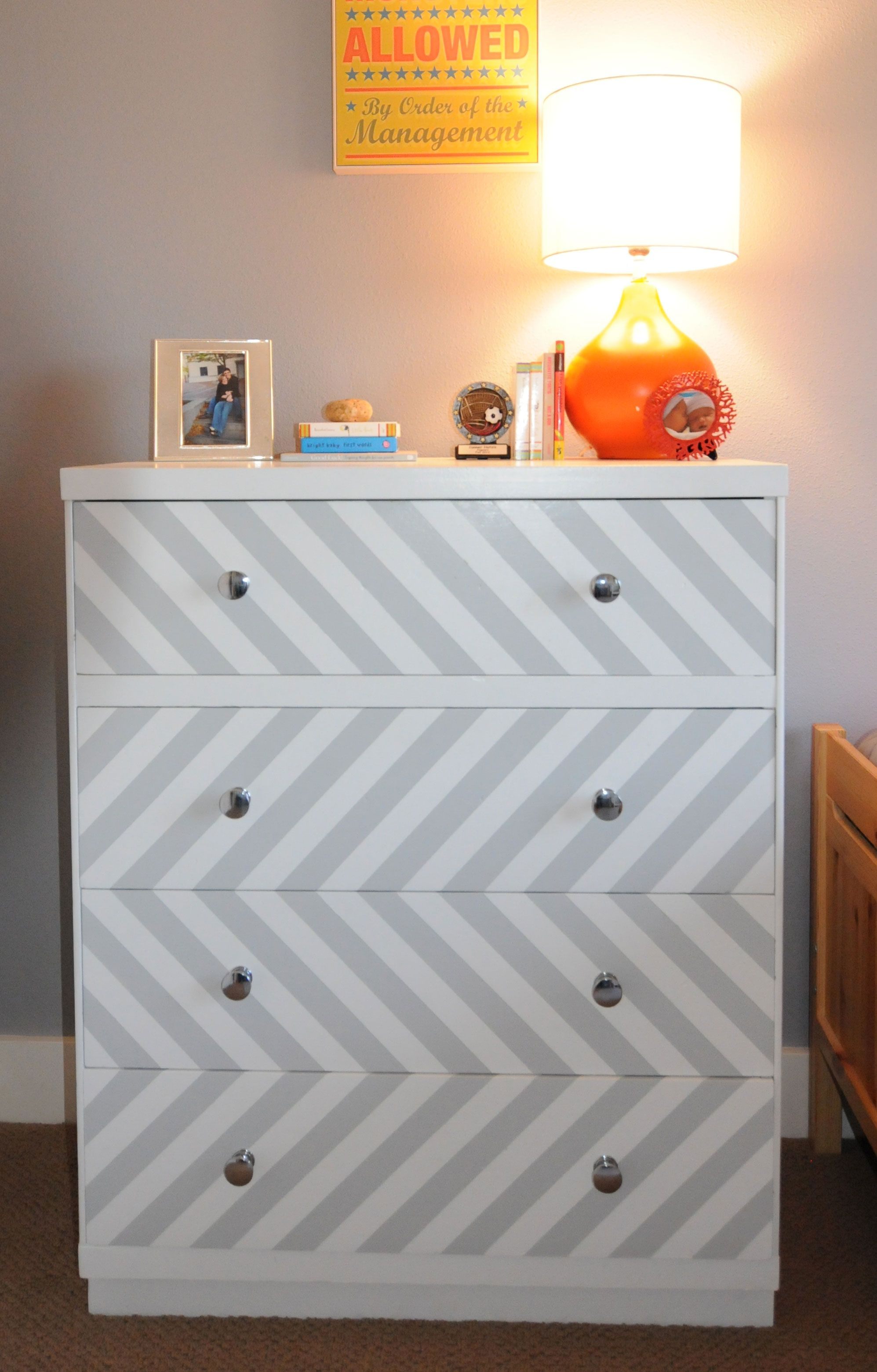 blue dresser with gray chevron google search art projects