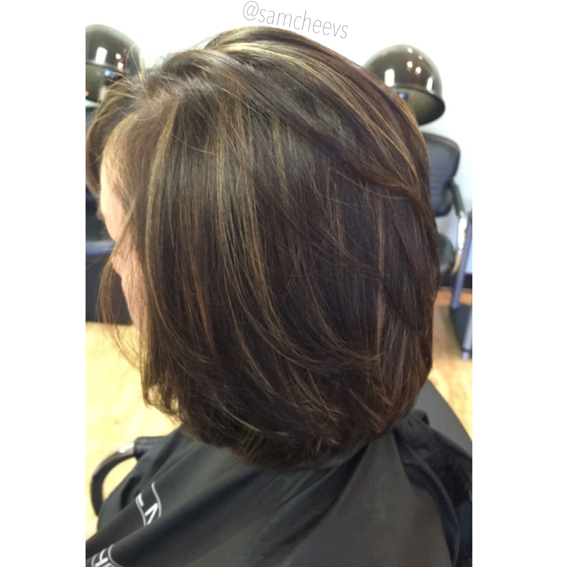 Highlights for short hair bob haircut with dark brown and partial highlights for short hair bob haircut with dark brown and partial foil pmusecretfo Image collections
