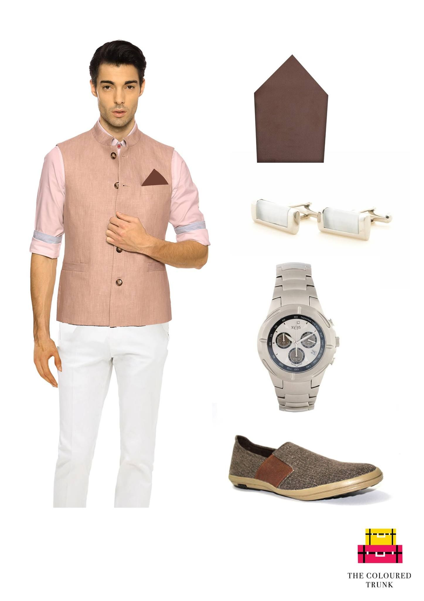 #TCTSIGNATURELOOKS FOR MEN A smart look for a formal-traditional occasion!  Linen waistcoat