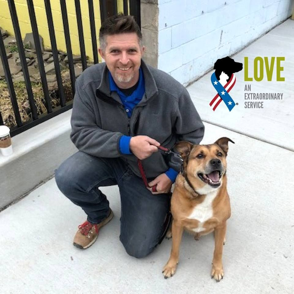 Nate Army Reservist And 7 Year Old Bentley Got February Off To A Rockin Start By Getting Adopted Through Our Partner Iraq War Veteran Animal Companions Pets