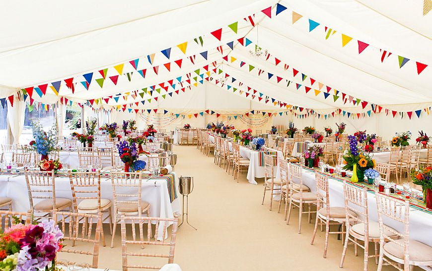 Beautiful Marquee Filled With Colour Marquee Wedding Marquee Decoration Beach Theme Wedding