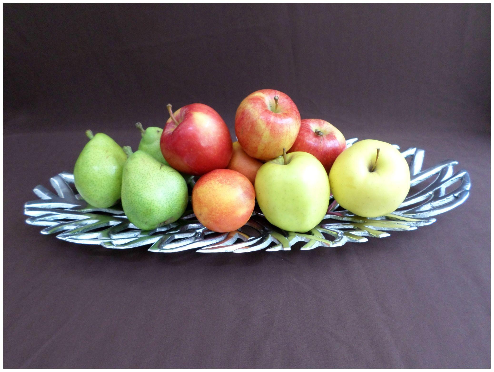 Pewter pewter frutero fruits frutas adorno mesa for Mesa cocina frutero