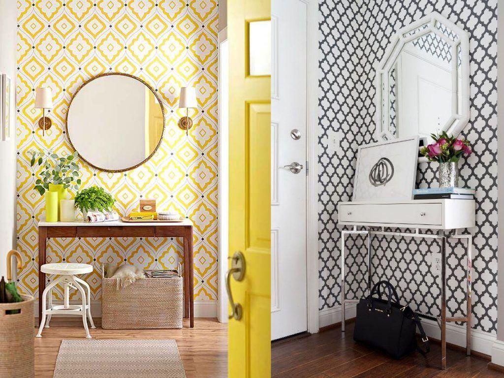 recibidores con papel pintado - Papel Pintado Recibidor