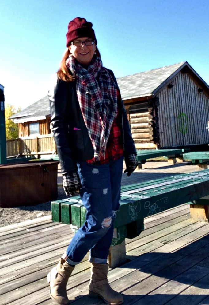 From Whitehorse to Victoria Secret Lumberjack chic  Old navy boyfriends, forever 21 plaid and joe fresh scarf