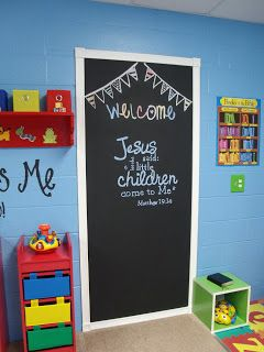 ♥ Just A Peek Into My Oh So Blessed Life ♥ Door was painted in chalk board paint!