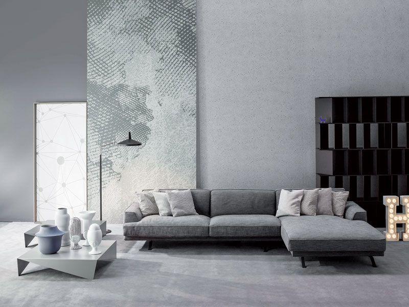Divano Slab di Bonaldo  Living Room  Minimalist home interior Living room grey e Sofa design