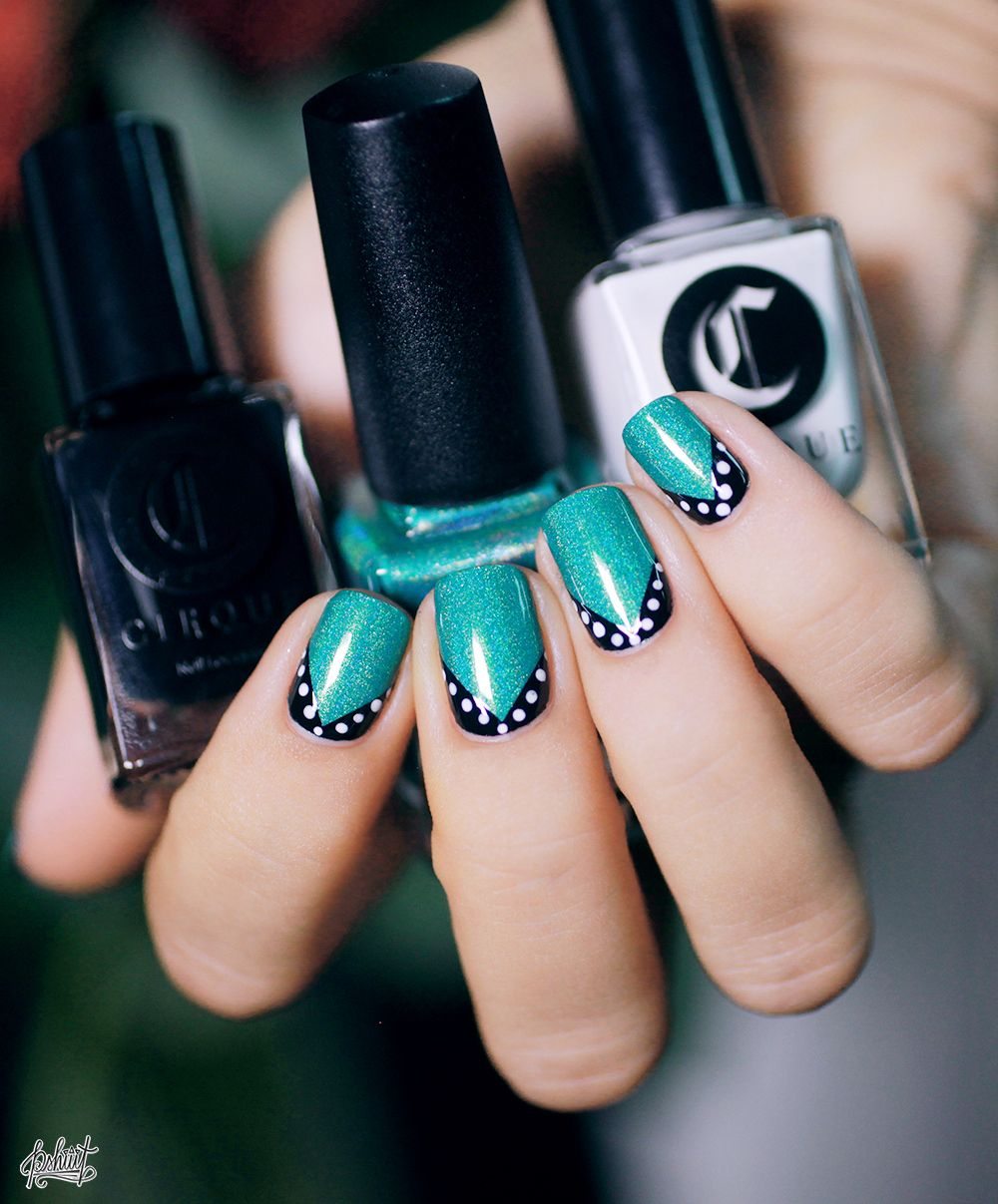 Nail Art Ideas » Nail Art Lines And Dots - Pictures of Nail Art ...