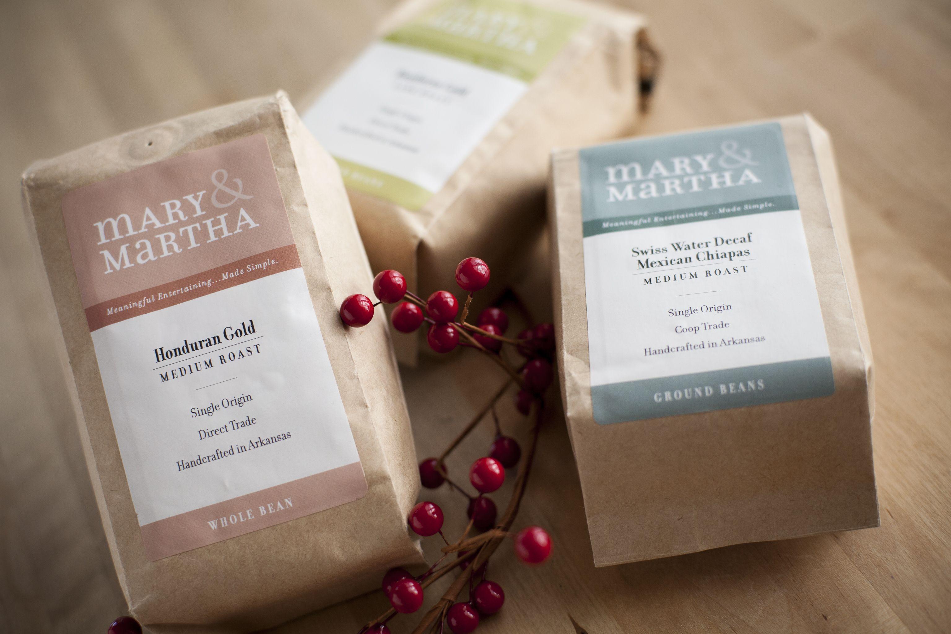 Mary & Martha's Blend Coffees. More at www.mymaryandmartha.com/KARENHUSECLIFTON