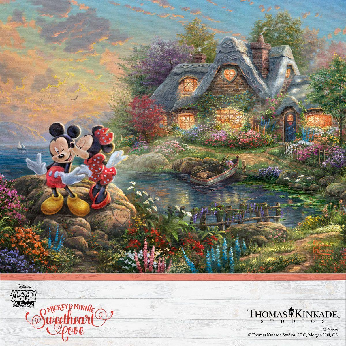 Thomas Kinkade Disney Mickey and Minnie