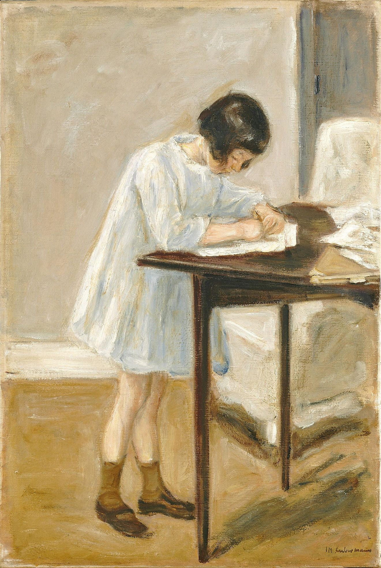 The Artist's Granddaughter at the Table — Max Liebermann