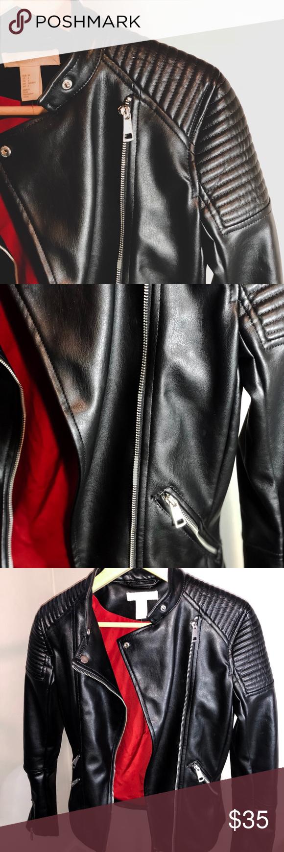 H&M Biker Jacket Biker jacket, Clothes design, H&m jackets