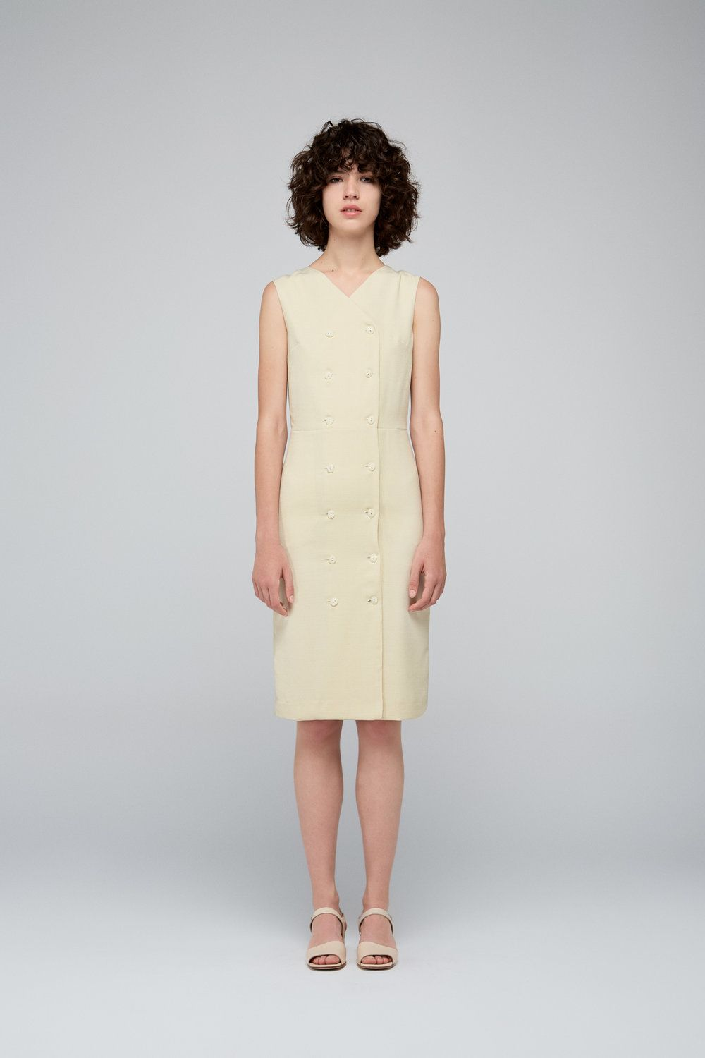 Double Breasted Wrap Dress In Crepe Fabric 100 Polyester Fabric From Spain Made In Spain The Model Is 178 Cm And Wears Siz With Images Dresses Ethical Fashion Fashion