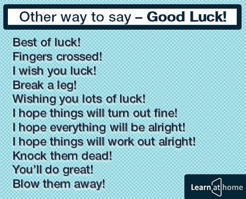 other ways to say good luck tim với google vocabulary  other ways to say good luck tim với google