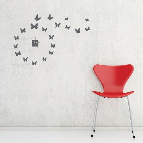 Get Creative With These Butterflies Wall Clock Sticker Simply - Wall decals clock