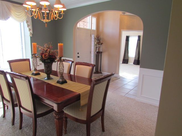 Curved Archway From Dining Room To Entry