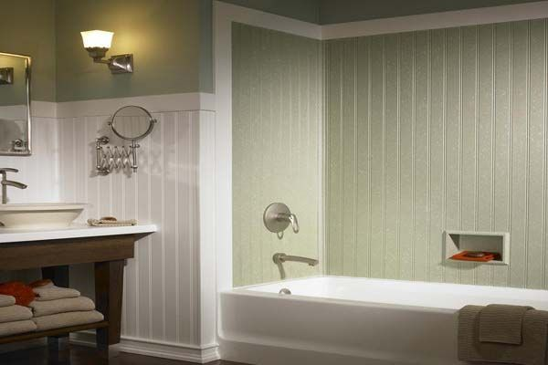 Wall Paneling Styles for Bathrooms | How to Choose a Bathtub Wall ...