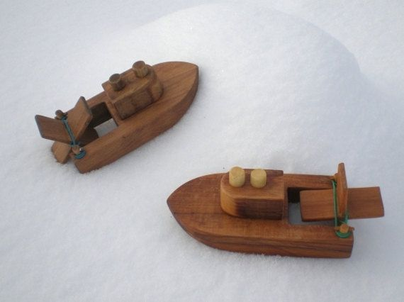 Wooden Toy Boat Kids Wood Bath Ready To Ship