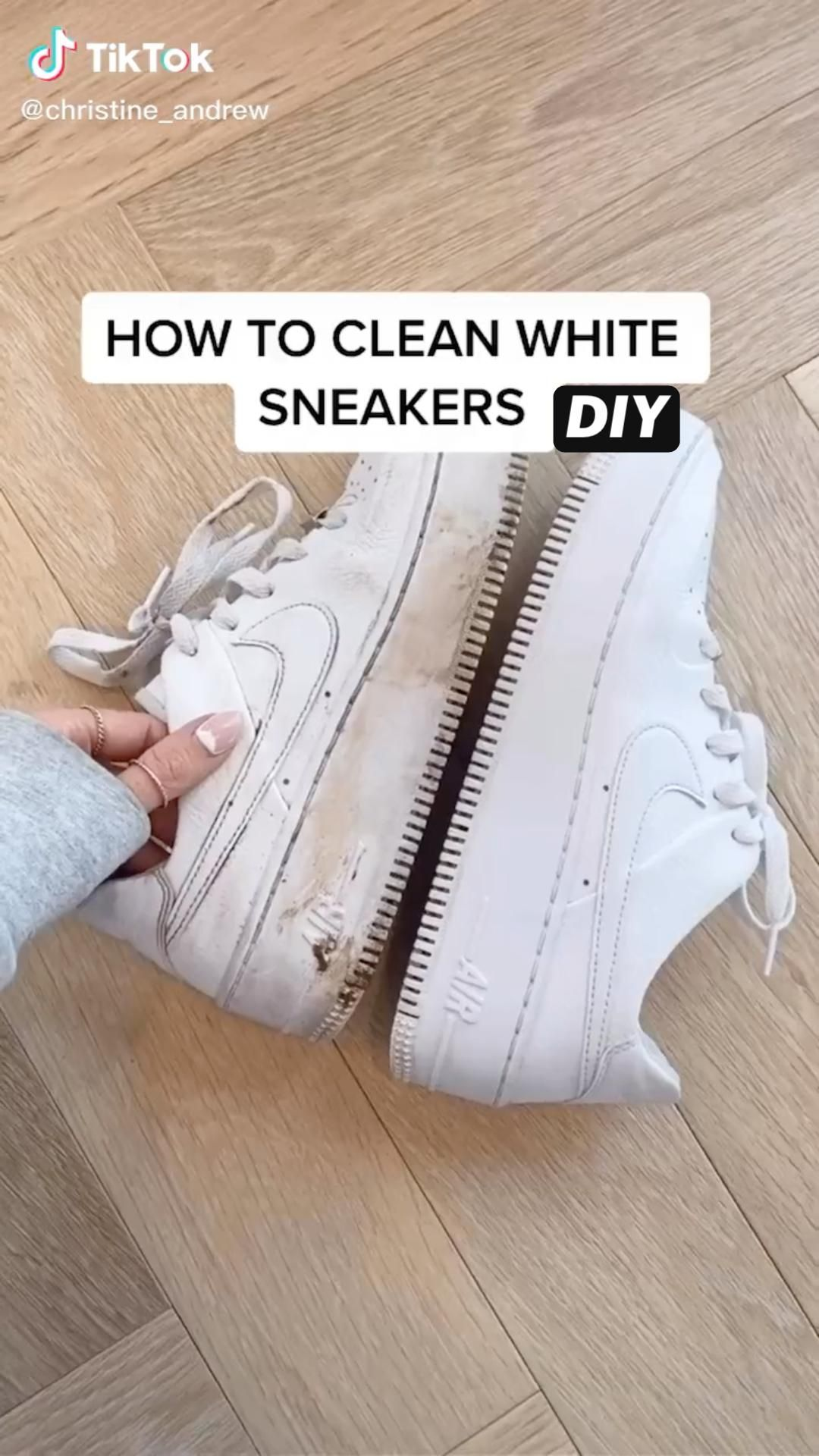 How to clean white sneakers (DIY)
