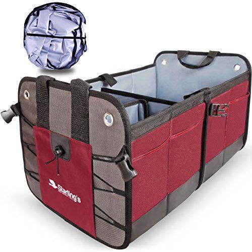 Car Trunk Organizer by StarlingsPremium Cargo Storage Container Best