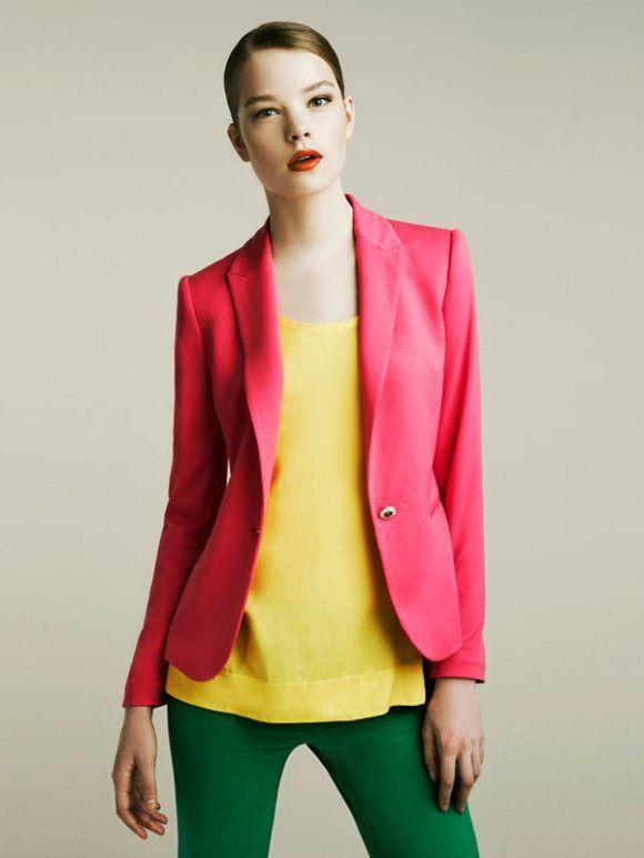 e1334e9f zara april 2011 via glitter guide #coral #yellow #green #fashion ...