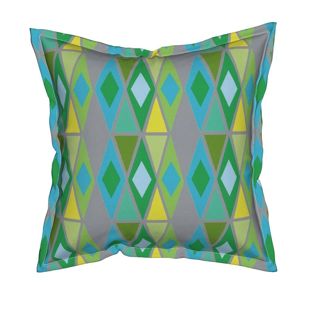 Serama Throw Pillow featuring diamond multi-ch by dnbmama | Roostery Home Decor
