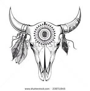 Buffalo Skull Pencil Drawing Bing Images Bull Skull Tattoos Bull Tattoos Bull Skulls