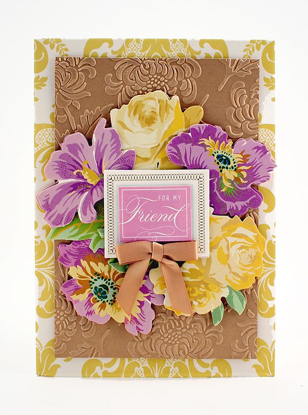 favorite flowers ii and embossing folder so pretty