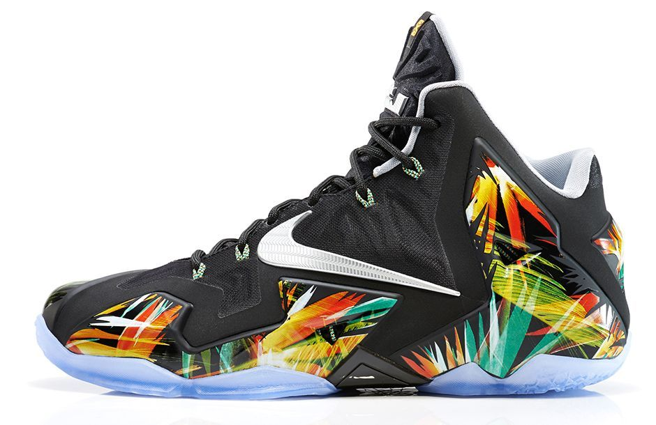 Nike Lebron 11 everglades, tropical print, fashion, sneakers, style, cute