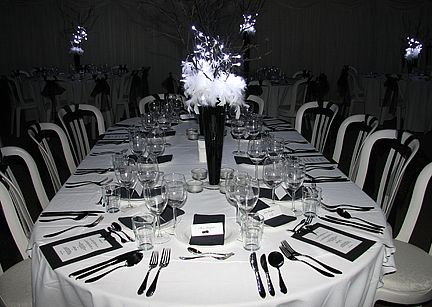 Themed Parties Decadent Black And White Birthday Ball Black