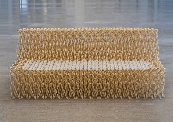 Designer Yuya Ushida has created a chair that can be expanded into a sofa. Made out of 8000 recycled bamboo chopsticks, the basic building block is a simple X structure....