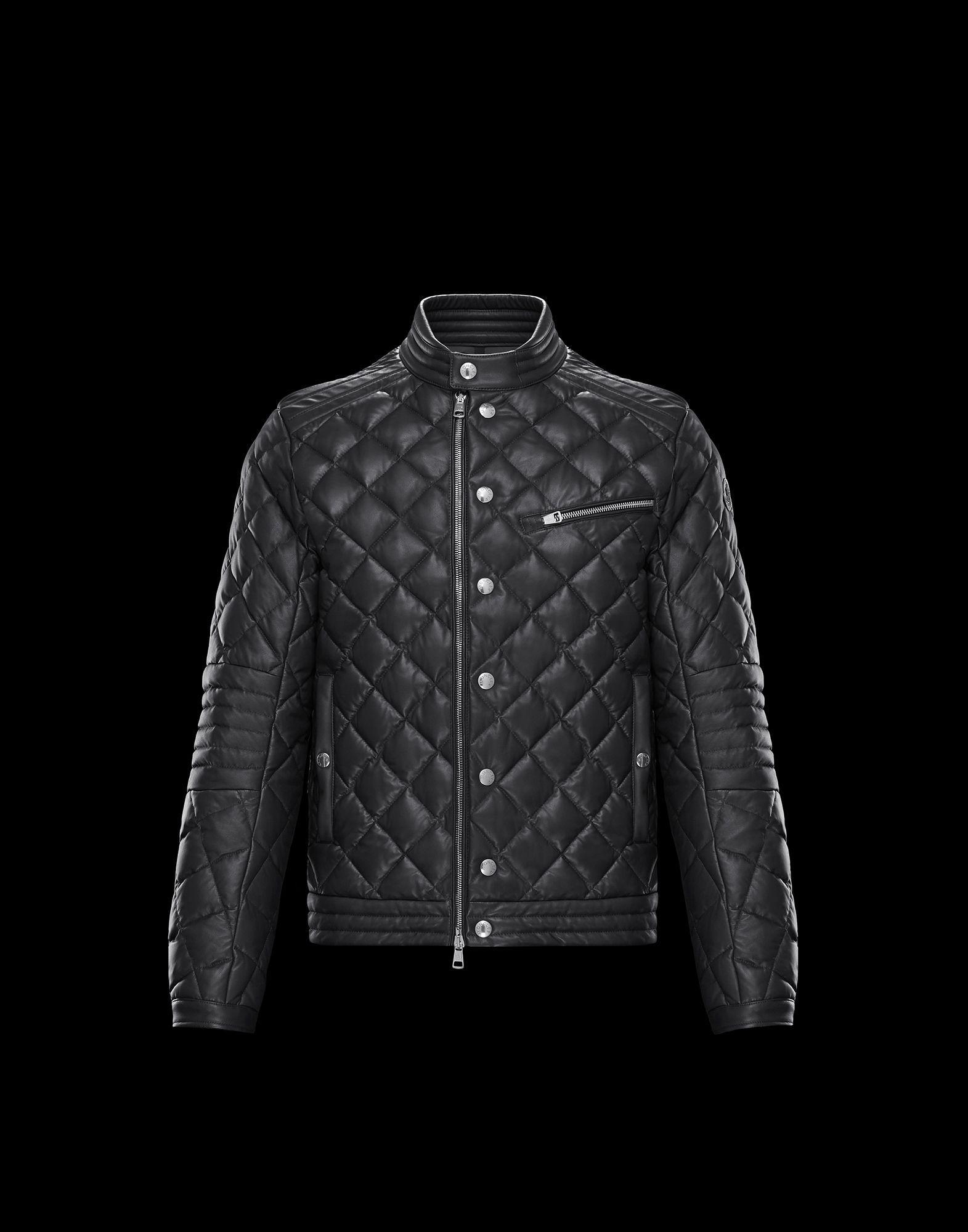 best service 03f52 4cbcc Moncler AURIAC for Man, Biker jackets | Official Online ...