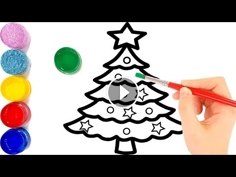 Glitter Christmas Tree Ornaments Coloring And Drawing For Kids Toddlers Vẽ Va To Mau Cay Thong Glitter Glitter Christmas Tree Ornaments Colo Toy Art Drawing