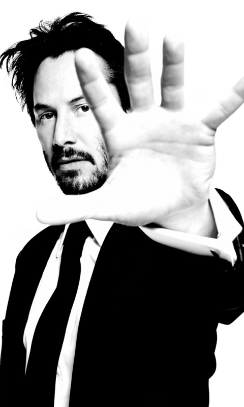 9162cc55e17bb0e81 Png 480 800 Keanu Reeves Black And White Background Portrait
