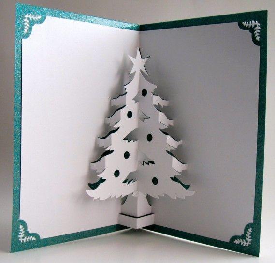 Stella Di Natale Tridimensionale.Biglietti Pop Up Di Natale Fai Da Te Albero Con La Stella Cards