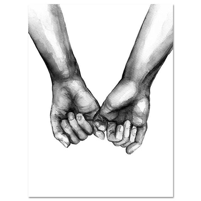 Love Hands Wall Art Small Space Therapy Store Abstract Sketches Poster Prints Love Posters