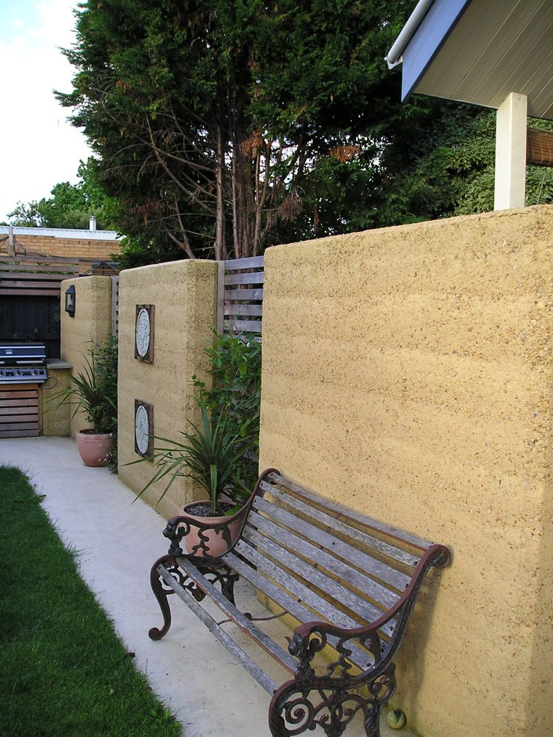 garden wall | adobe | Pinterest | Rammed earth, Earth house and ...